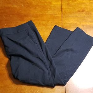 LOFT Marisa navy pinstripe dress pants
